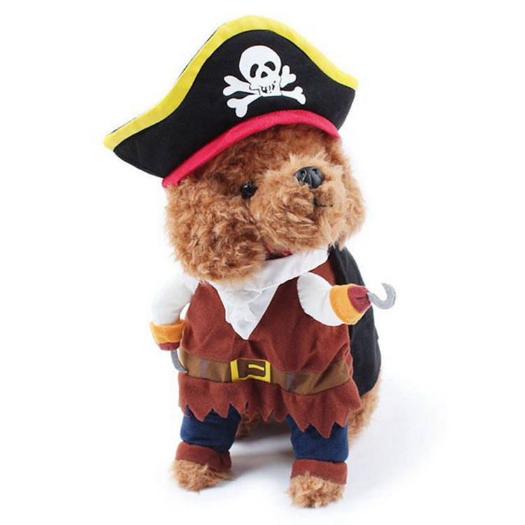 Halloween and Theme party luxury pirate dog clothes pet costumes