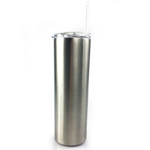 manufacture 20 OZ/ 600ML skinny vacuum insulated stainless steel tumbler water bottle with lid and straw slim tumbler