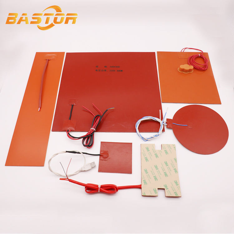 12V waterproof heat resistant insulated electric silicone rubber flexible heating element