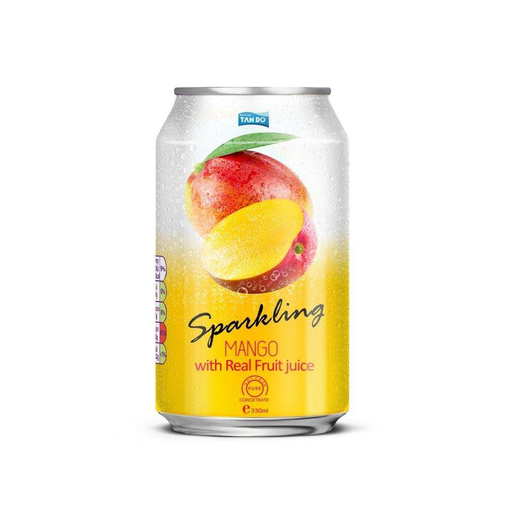 High quality private label 330ml non alcoholic sparkling with real mango juice