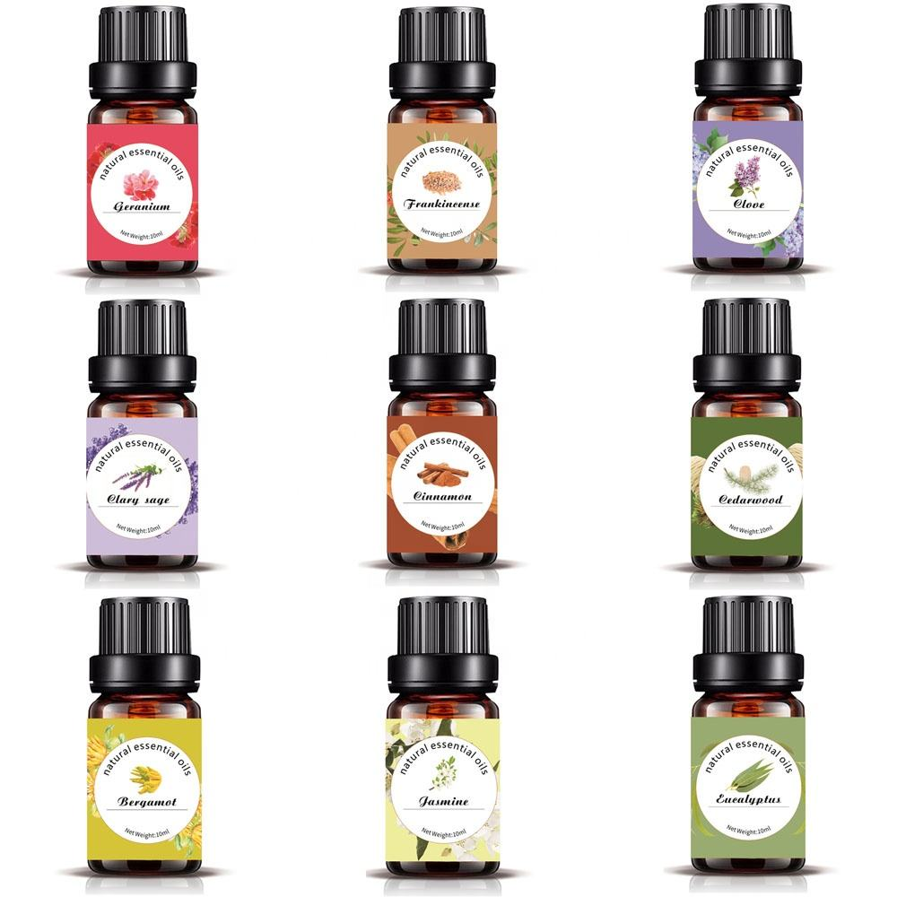 Factory retail pure essential oil lavender tea tree peppermint oil with private label and box