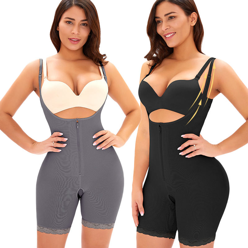 Gaine Amincissante Femme Shapers With Lace 6Xl Plus Size Underwear High Compression Shapewear Jumpsuit Tummy Slimming Shapewear