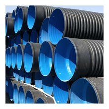 Chinese professional manufacturer hdpe double wall corrugated drainage pipe