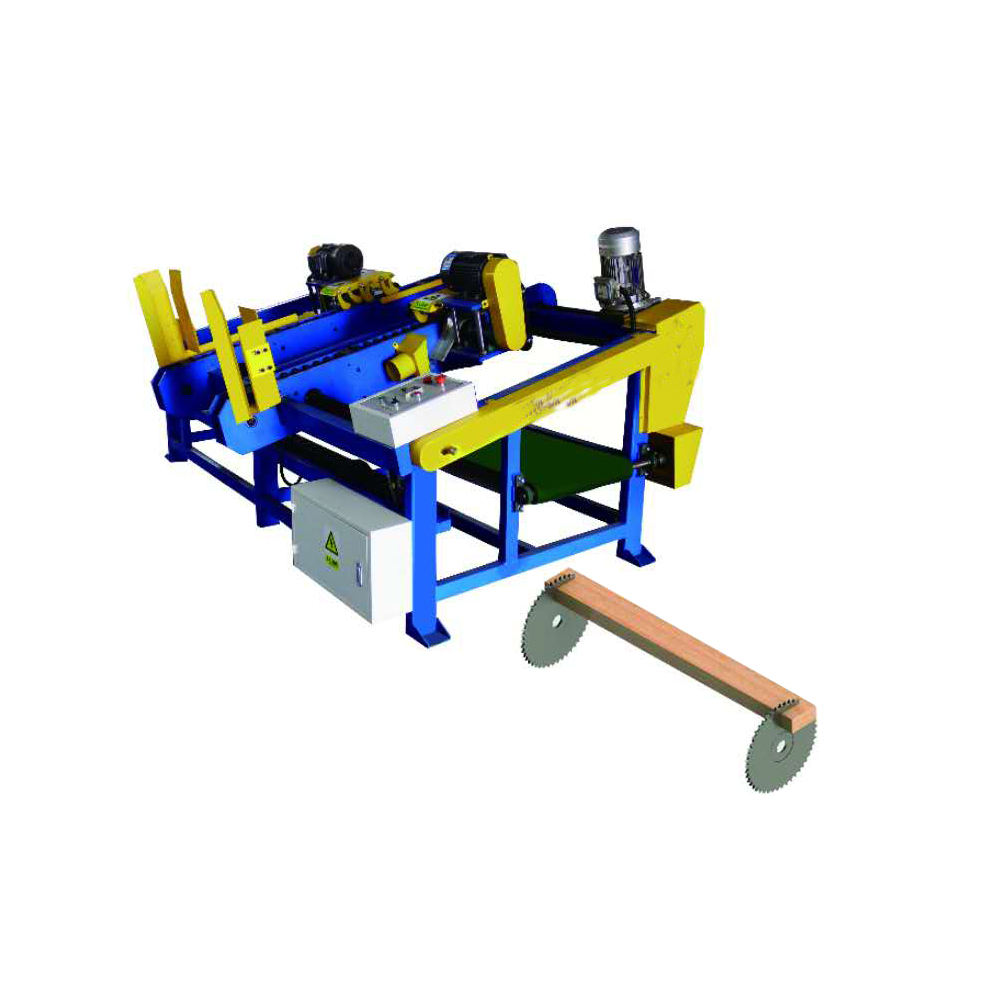 pallet wood block cutting industrial wood cut off saw double head mitre saw machine