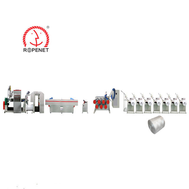 extrusion line polypropylene split film raffia yarn making extruding machine