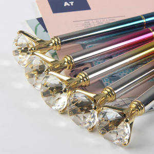 Promotional Beautiful Metal Custom Big Crystal Top Diamond Pen
