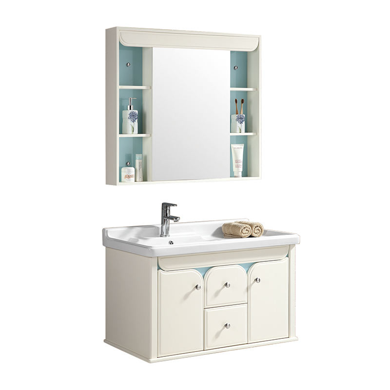 New style pvc bathroom sink with cabinet for bathroom