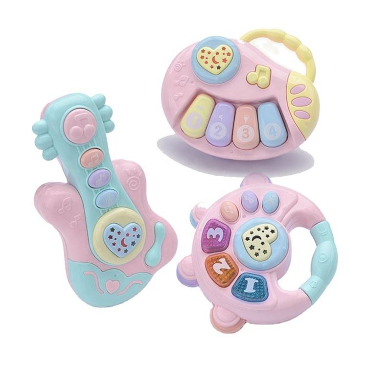 Shan tou factory direct to sell Baby music rattle drums early educational toys musical instruments