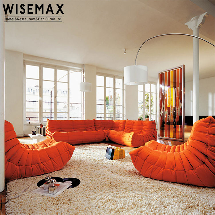 Modern home furniture LigneRoset Togo fabric sofa Nordic living room couch light luxury leather sponge sofa