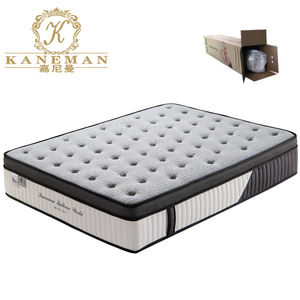 rolled packing queen size luxury hotel memory foam 5 zone pocket spring mattress