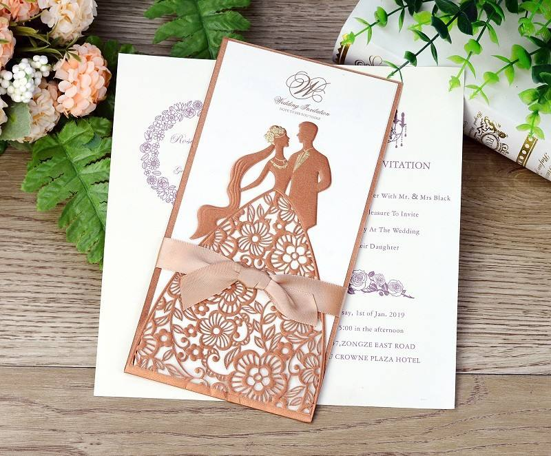 Indian engagement invitation card hot sale wedding invitation card handmade wooden wedding invitations