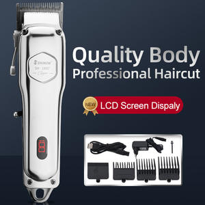 Hair Clipper Professional Lcd Display Cordless 1897 Stylists Barbers Hair Trimmer Hair Cut Machine