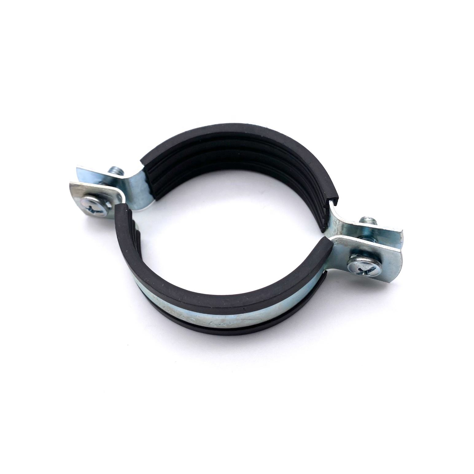 "Metal pipe clamp with rubber, with nut 2 1/2"" 72-78 mm M10"