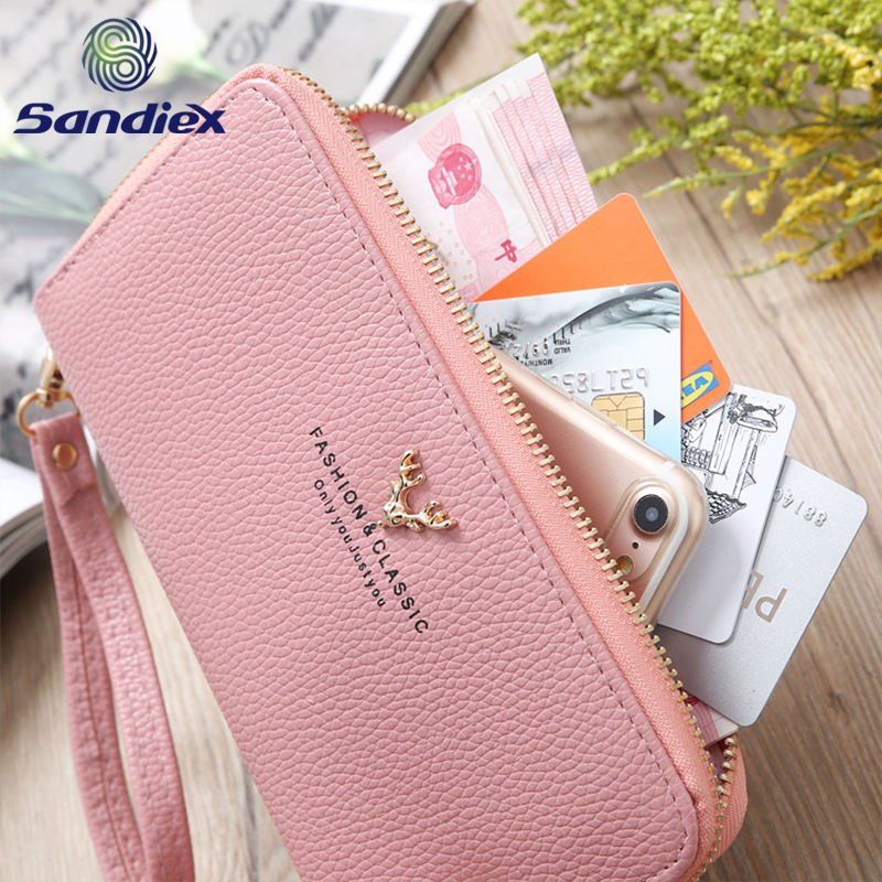 Polyester [ Leather Wallet Wallets ] Customize Wallet Custom Grain Zipper Leather Women Wallet PU Ladies Purse Wallets With Low Price