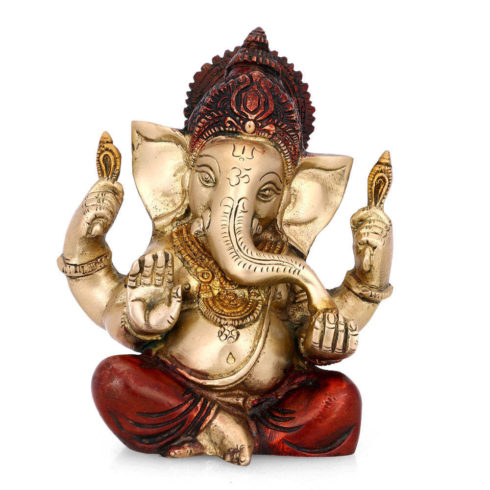 Hindu elephant god of success polyresin ganesh idols