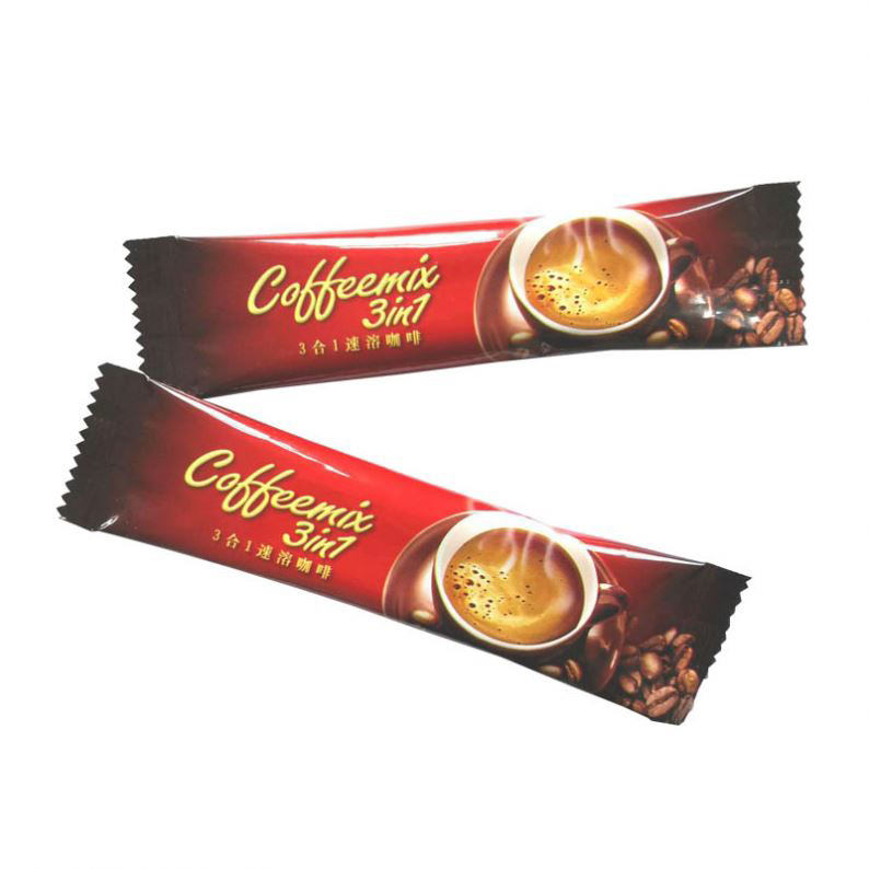 High quality printed aluminum foil plastic sachet coffee packaging, printed small sachet coffee bag coffee bean packaging bags