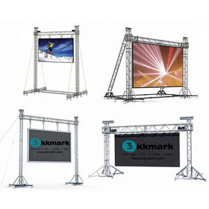 LED screen ground supports display truss structures