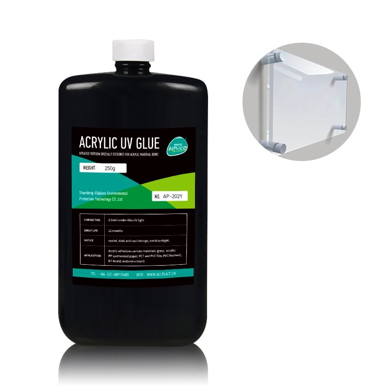 Allplace Uv Curable Liquid Acrylic Adhesive UV Glue For Acrylic Bond