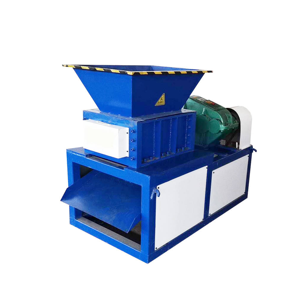 Heavy duty industrial paper cardboard box dual 2 double shaft tire shredder machine