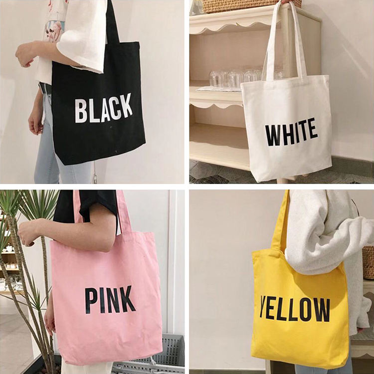 canvas tote bags bulk 100% cotton black heavy duty canvas tote bag