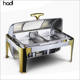 Hotel supplies wholesale restaurant serving dishes insulated food warmer catering 9liter gold food chaffing dish