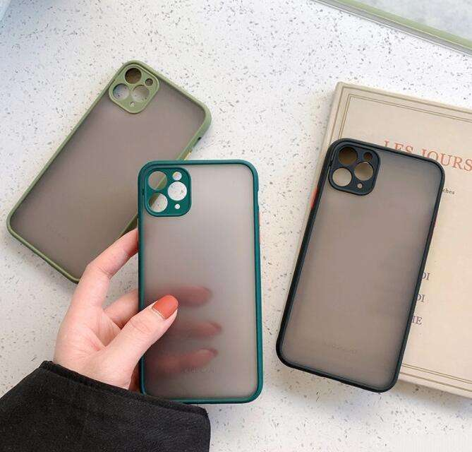 Transparent frosted phone case For iPhone 12 11 11Pro Max XR XS Max X 8 7 6S Plus SE 2 11Pro Soft TPU Plain Color Case