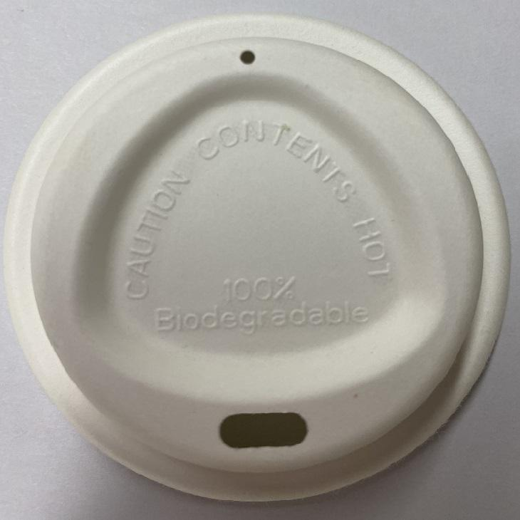 Sugarcane Bagasse [ Lid Coffee ] Paper Coffee Lid 80mm 90mm Compostable Molded Pulp Cup Lid Sugarcane Bagasse Paper Coffee Cup Cover