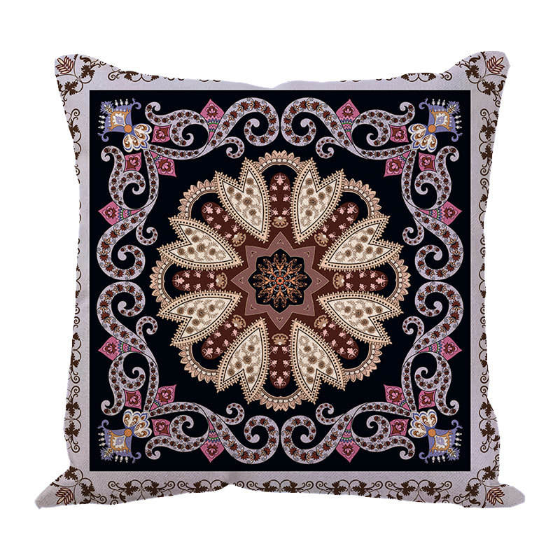 Factory direct sales custom digital printed linen cushion cover india