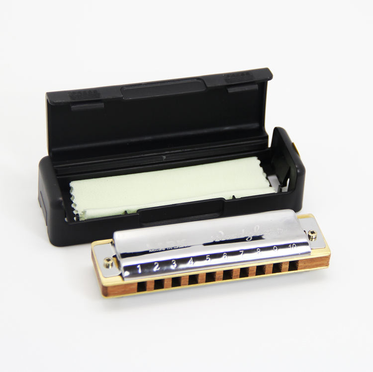 High quality 10 hole modern design mouth organ wooden comb blues harmonica