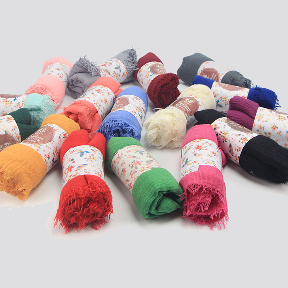 2020 Cheap Cotton And Linen Arab Hijab Scarf Women Muslim Scarf Veils For Hijab