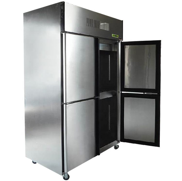 Taiwan MS commercial refrigerator stainless 4 Doors refrigerator for customer