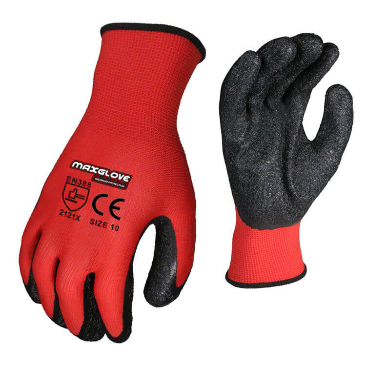 Latex Foam Coated Safety Breathable High Performance Working Gloves
