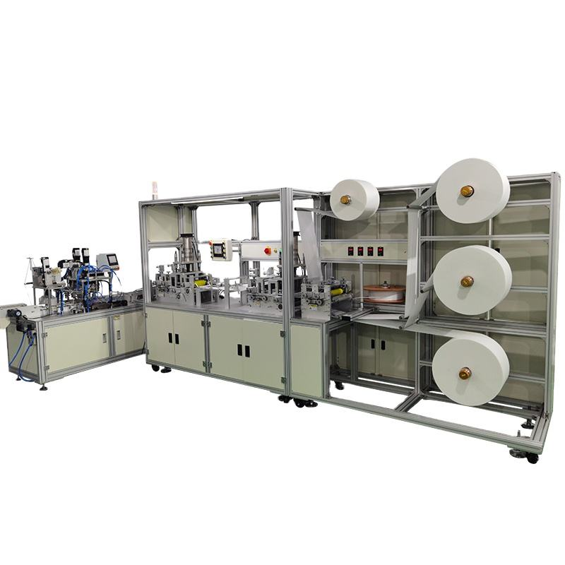 melt blown nonwoven disposable medical fabric fully automatic kf94 fish mask machine
