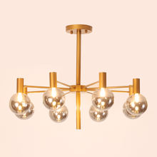 Cheap Fashion Glass Metal Chandelier Pendant Light Fixtures 40W 110V 240V Hanging Ceiling Light Chandelier