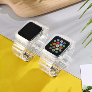 2020 New Selling Band For Apple Watch Transparent Fullbody Watch Bands TPU Fashion Silicon Rubber Smart watch Strap
