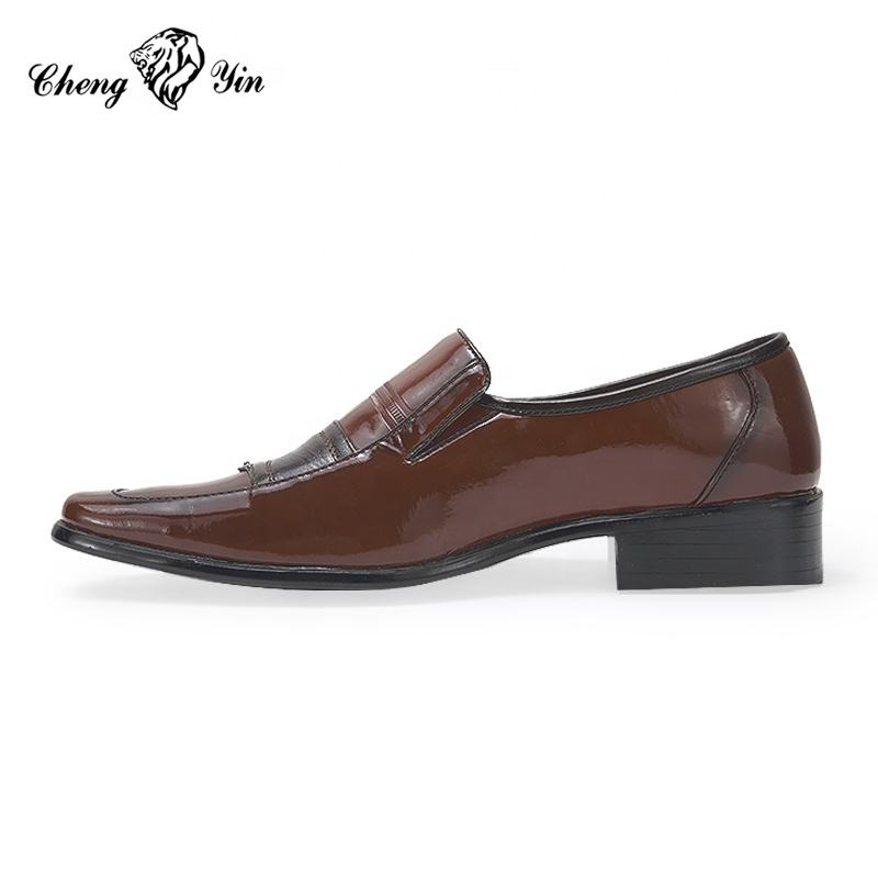 South America Cheap Price Fashion Design Wine Red Patent Leather Dress Shoes Men Buy Men Wine Red Patent Leather Dress Shoes Cheap Men Patent Leather Dress Shoes Men Dress Shoes Pcu Sole Product