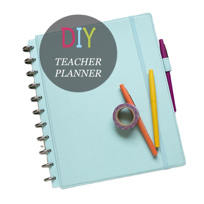 DIY Plastic Ring Binder PU Leather Teacher Planner Diary With Elastic Band
