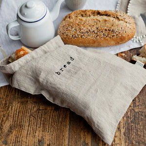 Customized Linen Bread Gift Drawstring linen Bag reusable cotton linen bags