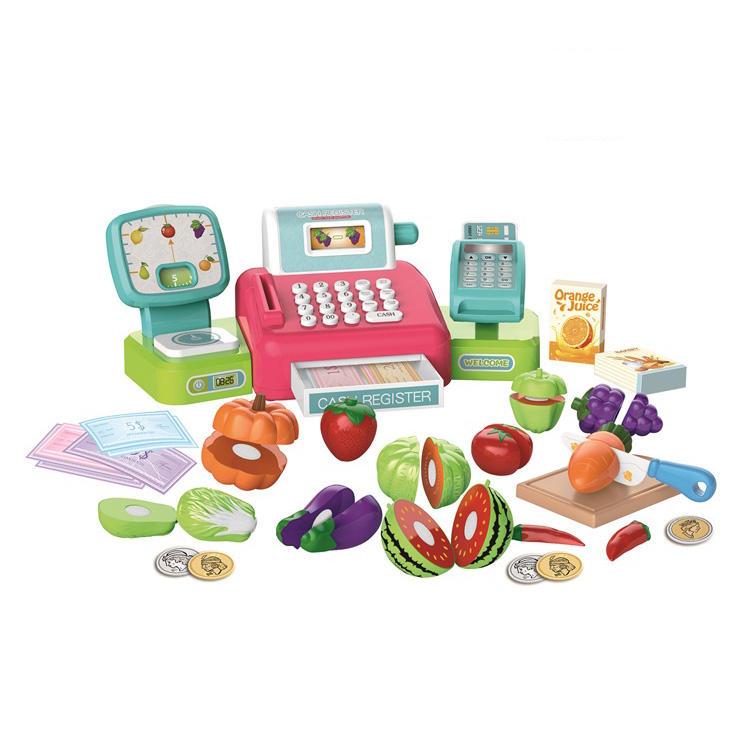 Usine prix fonction vocale semblant jouer registre comptoir de caisse de supermarché jouet