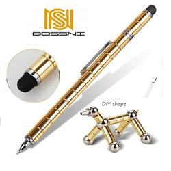 DIY Shape Magnetic Metal multifunction Ball Pen for office Pressure release