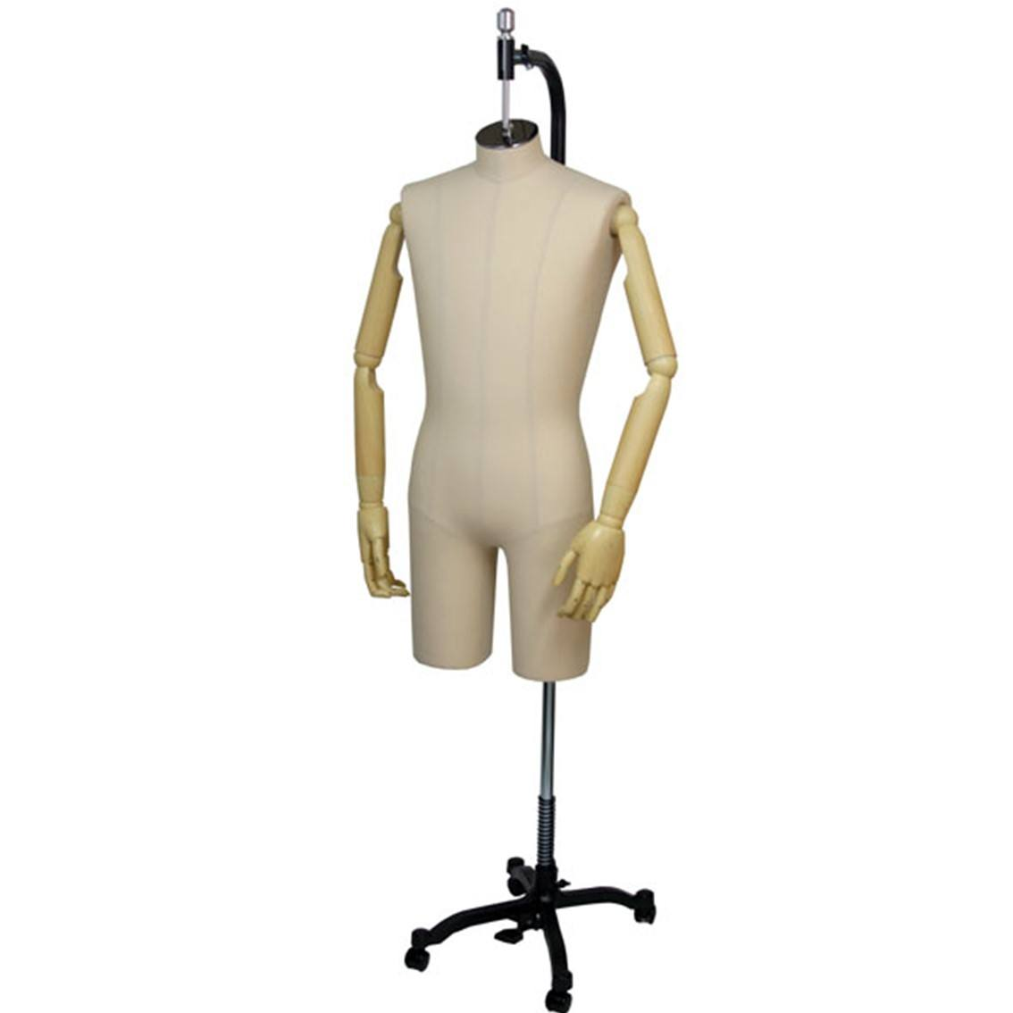 Designer Bust dressmaker, Tailor man mannequin with rack