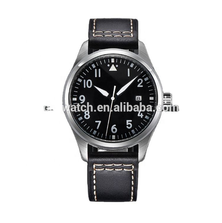 The little Prince Mark 18 pilot series stainless steel case super luminous 40mm mechanical watch for men