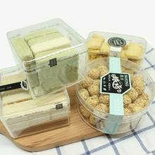 Clear polystyrene hard plastic storage box for packing candy cookies