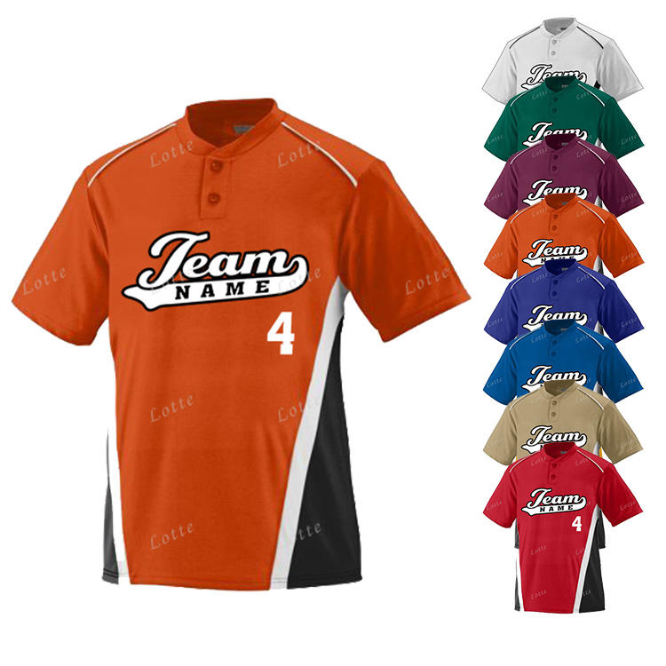 Bulk customized sports fitness training short sleeve baseball jersey