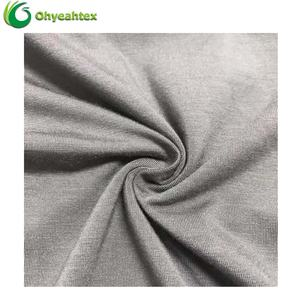 Breathable Sport 200gsm Elastic Bamboo Viscose Jersey Fabric For T-shirt