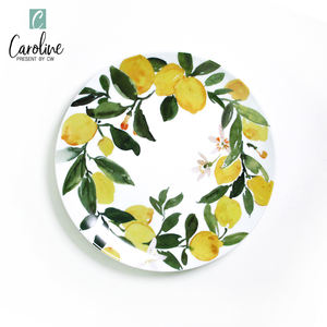 Wholesale Ceramic Salad Plate For Food Tableware Hand Painted Plates Set