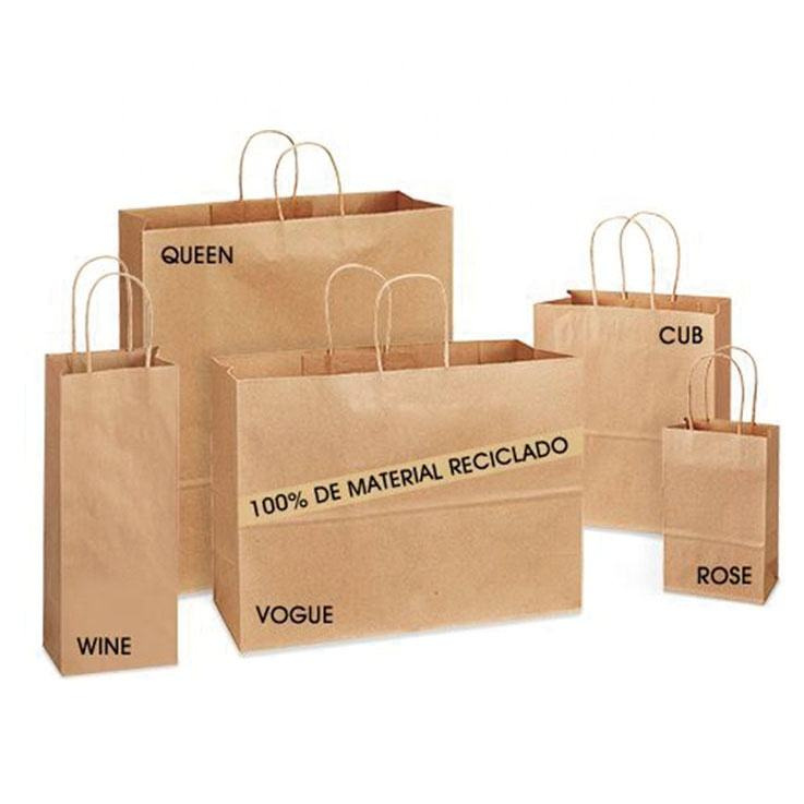 China Recycle Kraft Paper Shopping Bags for clothes packaging