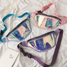 Belt Bum Bag Waterproof Transparent Holographic Fanny Pack Laser Waist small jelly bag purses