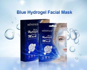 Bleu OEM soin de la peau acide hyaluronique gel collagène masque hydro hydrogel masque facial