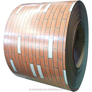 astm asis prepainted galvanized ppgi ppgl wood grain surface color coated steel coil